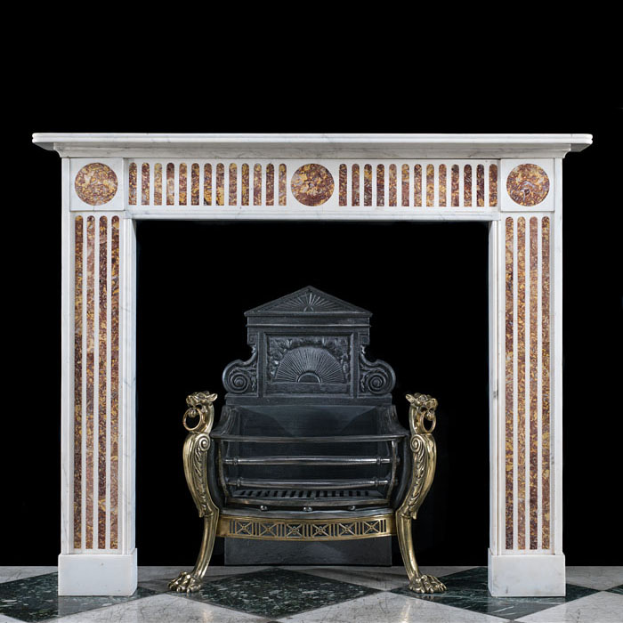 A Regency inlaid Brocatelle Fireplace