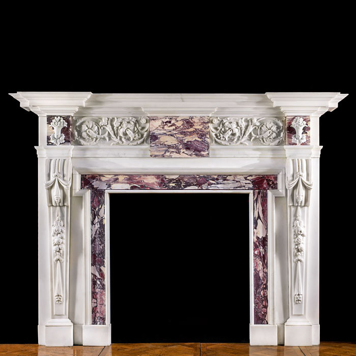 A William Kent Style Palladian Fireplace