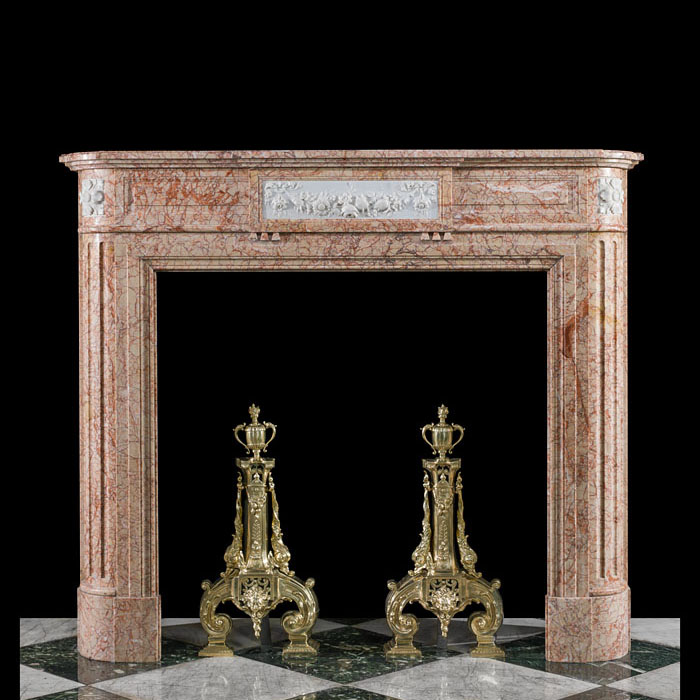 A Louis XVI Buixcarro Crema Marble Fireplace
