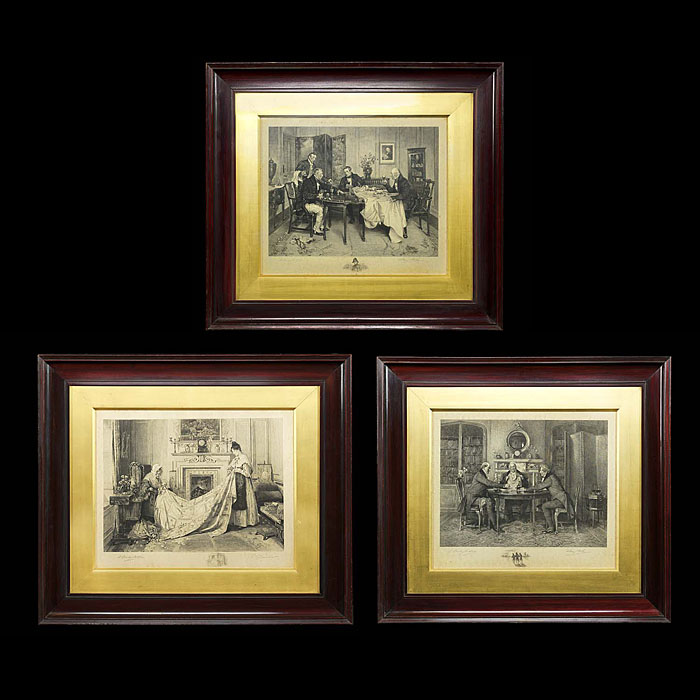 A Set of Three Engraved Victorian Prints