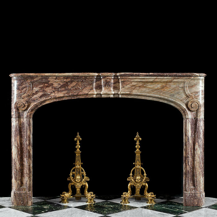 A Sarin Colin Marble Louis XVI Fireplace