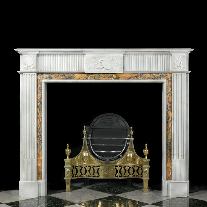 A Statuary Marble Georgian Style Chimneypiece