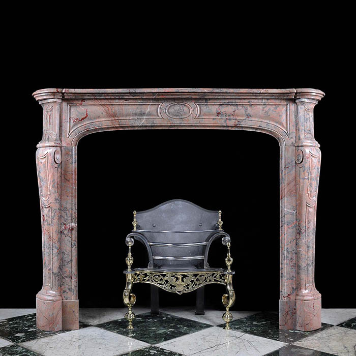 A Small French Pompadour Fireplace Surround