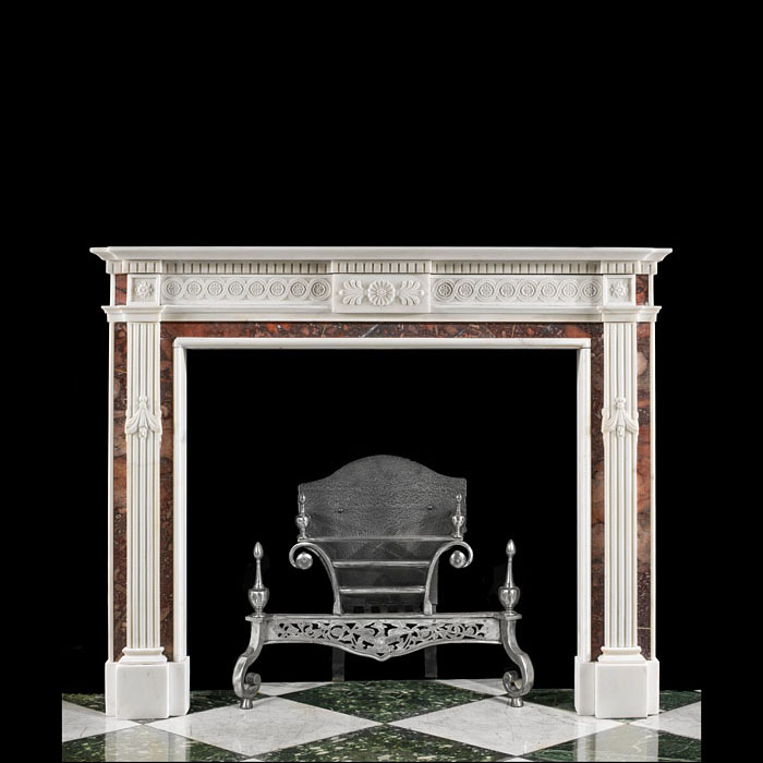 A Neoclassical Style Statuary Fireplace
