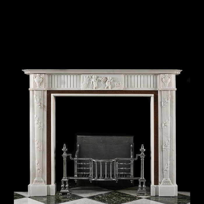A Statuary Marble Georgian Style Fireplace