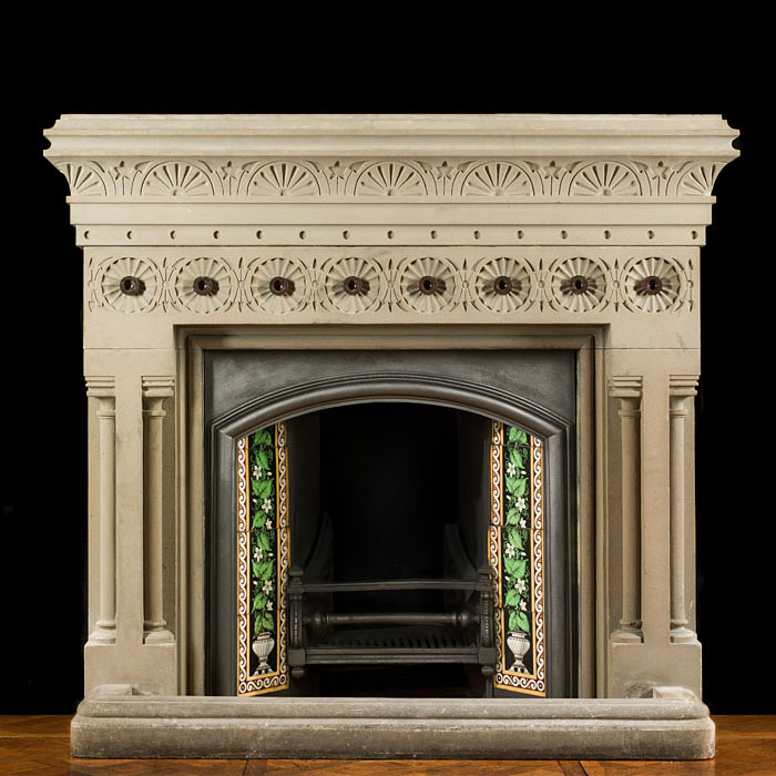 A Sandstone Aesthetic Movement Fire Surround