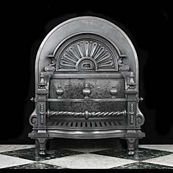 A Grand Baroque Style Antique Fire Grate