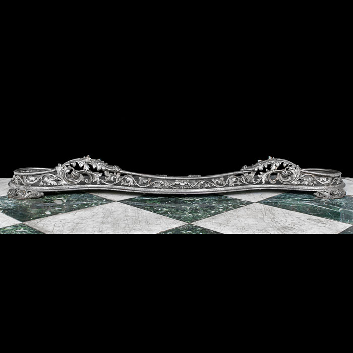 A Rococo Style Steel Fireplace Fender