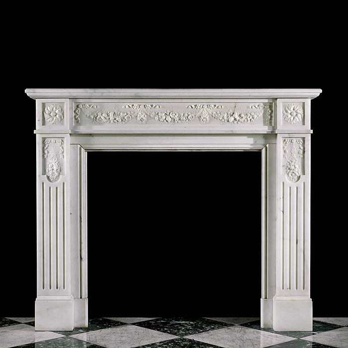 A French Regency style antique marble fireplace surround