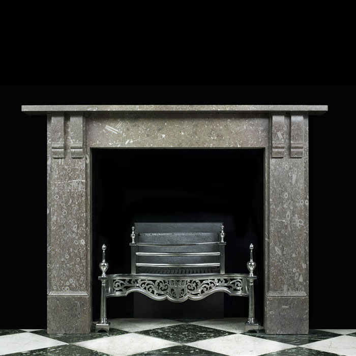 A Victorian Derby Fossil Marble Fireplace