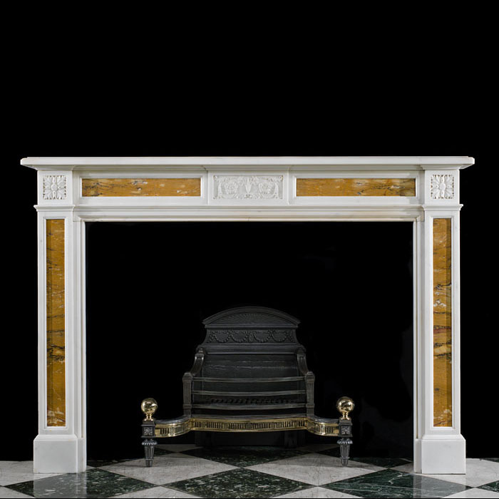 A Victorian Antique Marble Fireplace Mantel
