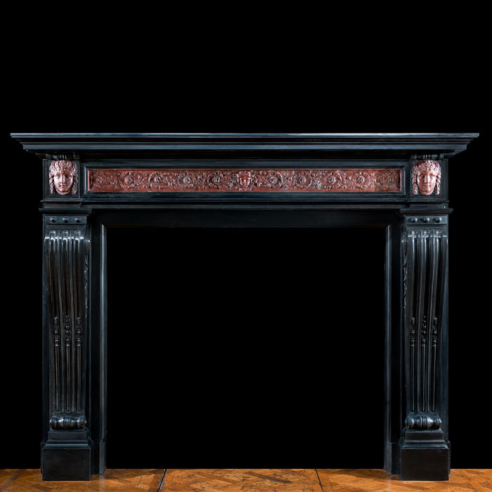 A Louis XVI Belgian Marble Chimneypiece