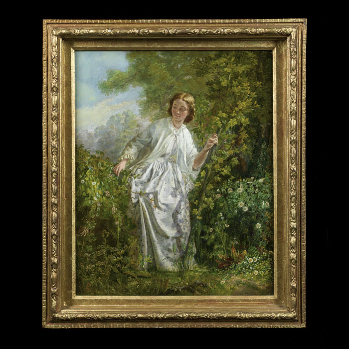 A Fine Allegorical Victorian oil on board