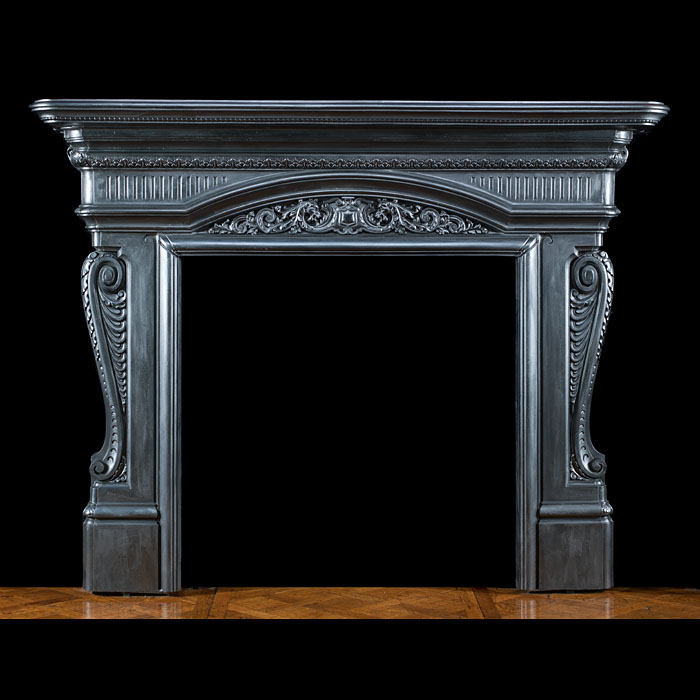 A grand Victorian cast iron fire surround