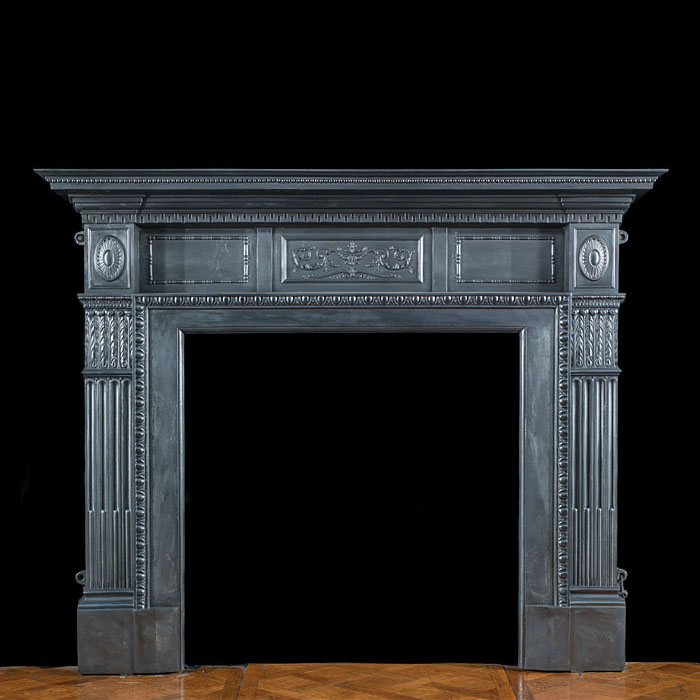A Large Cast Iron Victorian Fire Surround