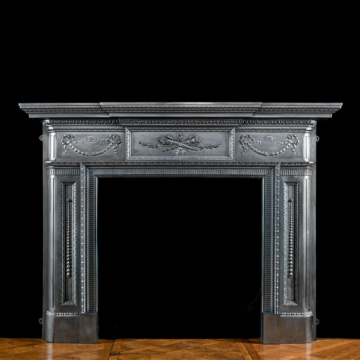 A Cast Iron Large Victorian Fire Surround