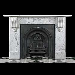 An English Marble Victorian Fireplace
