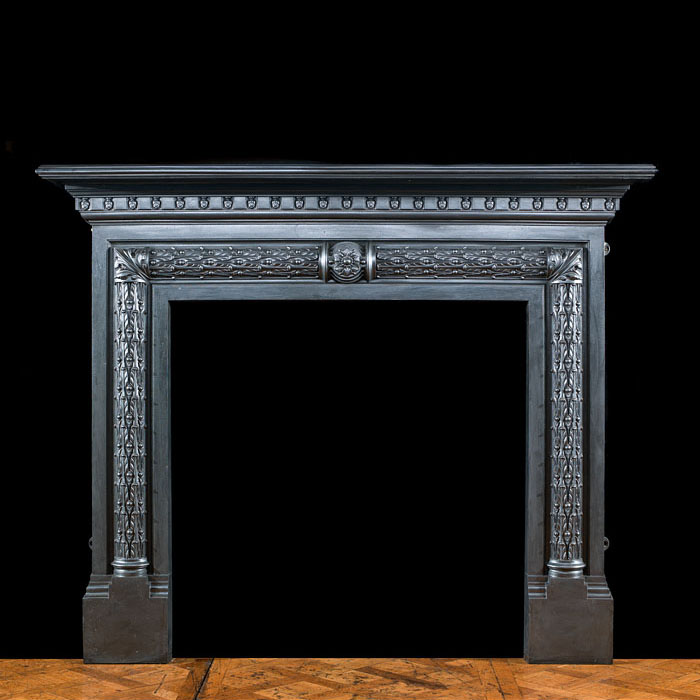 A fine cast iron Victorian fire surround