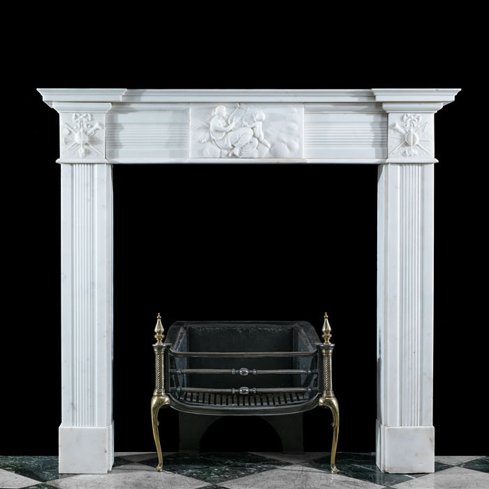 A George III Statuary Marble Chimneypiece