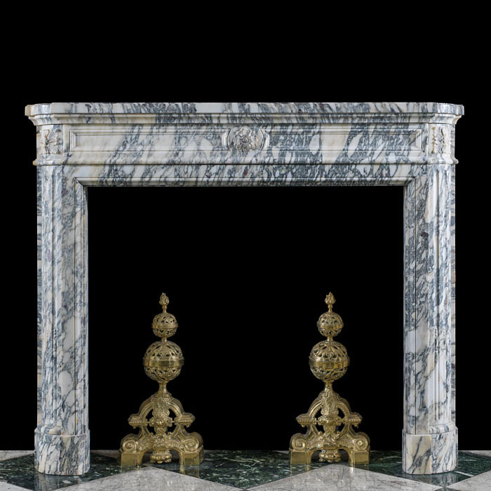 A small Breche Violette Louis XVI Fireplace