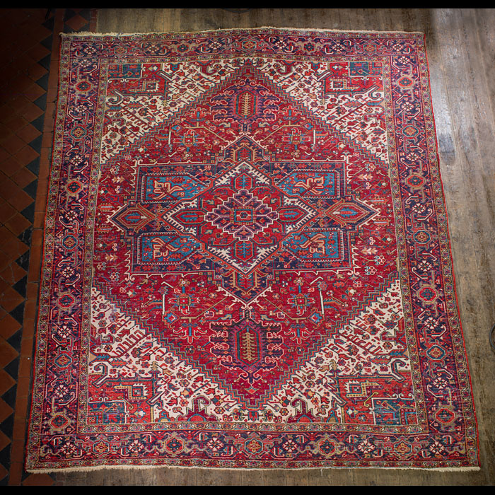 A large traditional Persian Heriz  carpet