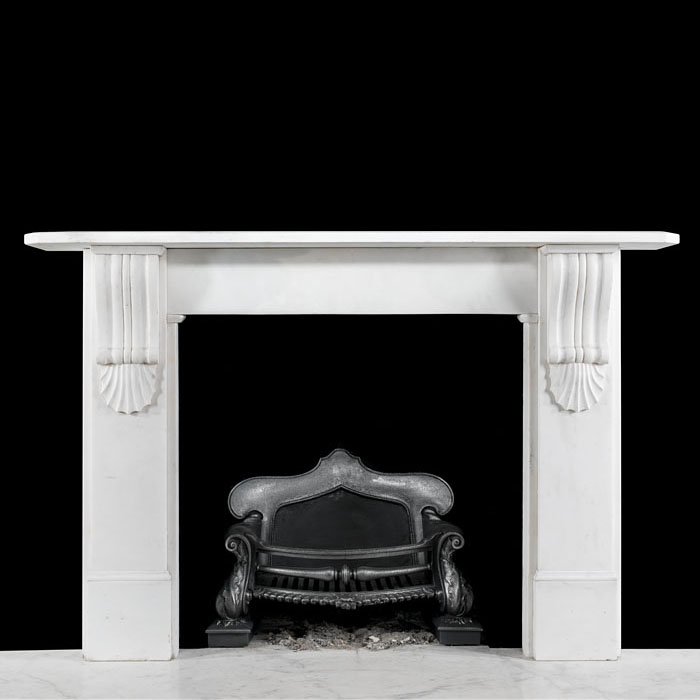 A Statuary marble corbel fire surround