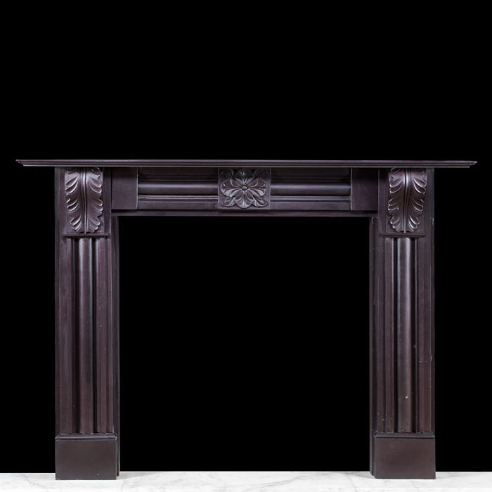 A Welsh Heather slate Regency chimneypiece