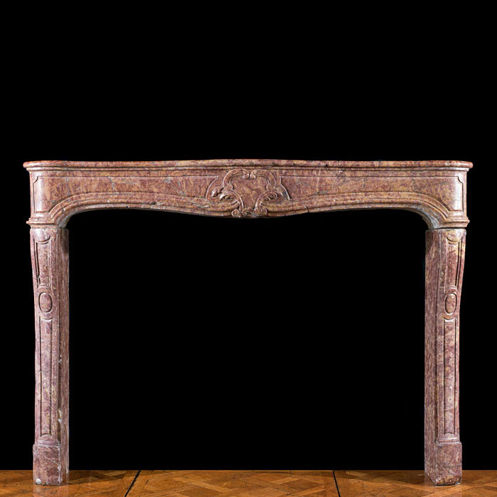 Louis XIV Style Broccatelle Marble Mantel