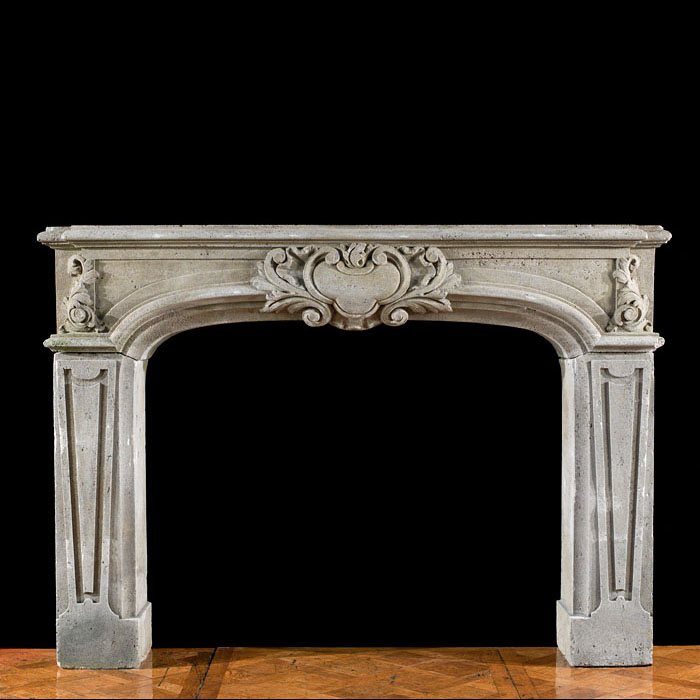 Baroque Style Stone Chimneypiece