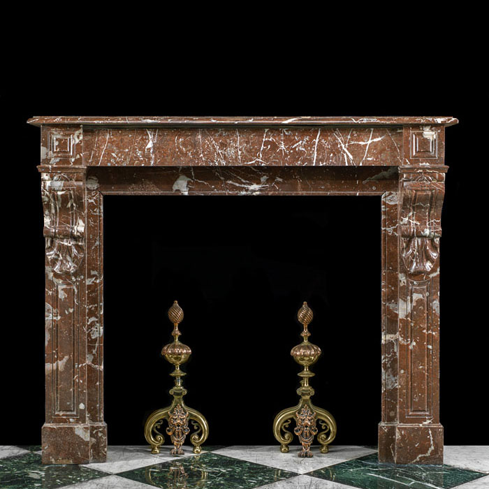 A French Rouge Royale Fireplace Mantel