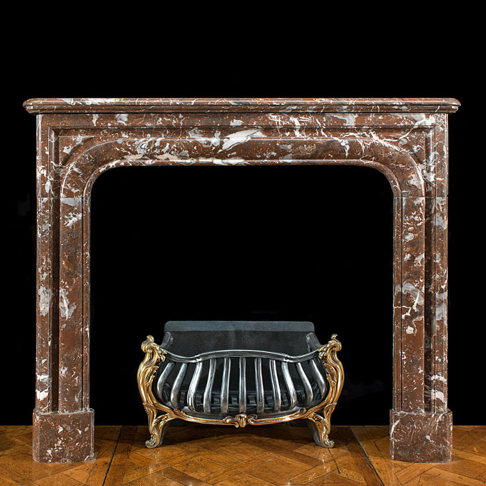 A Small Louis XIV Rouge Royale Fireplace