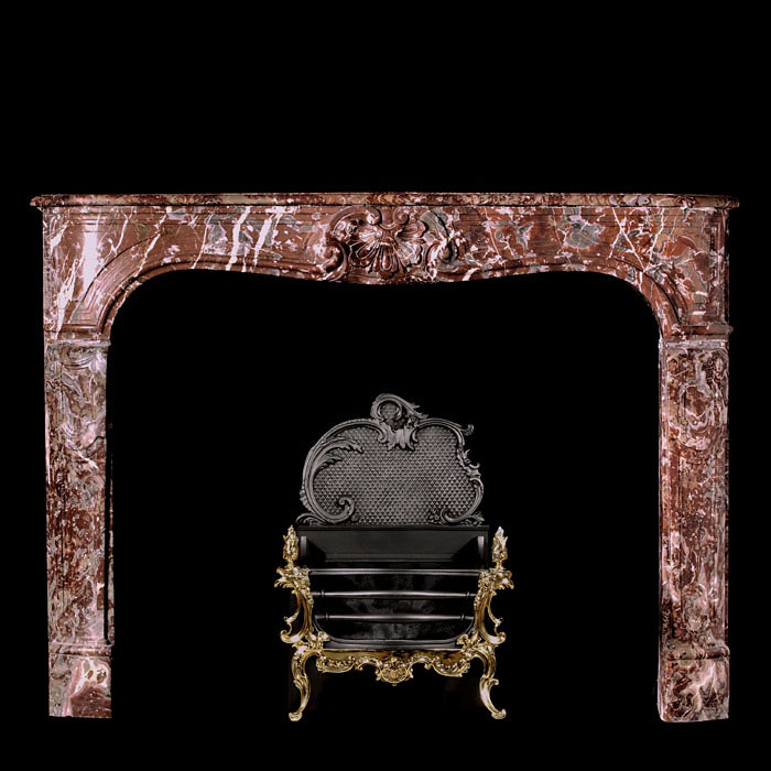 Louis XV Baroque Marble Small Chimneypiece