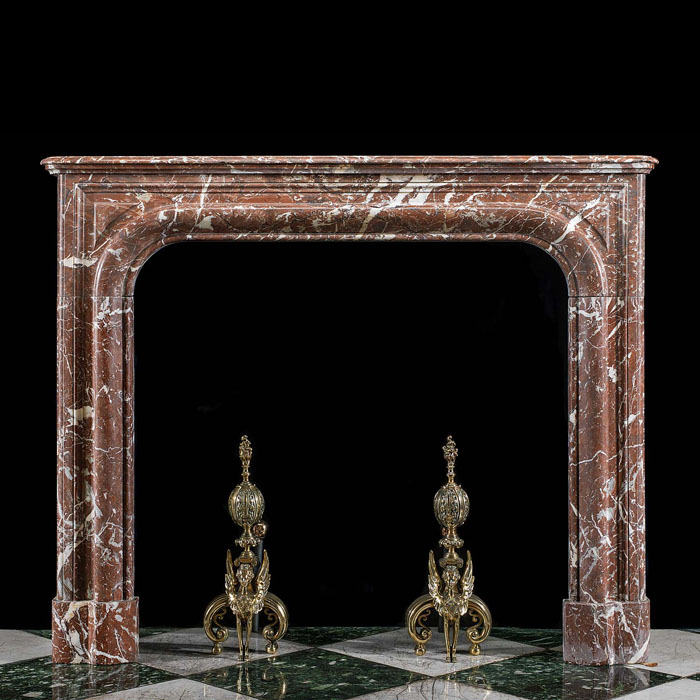 Baroque Style Languedoc Marble Fireplace