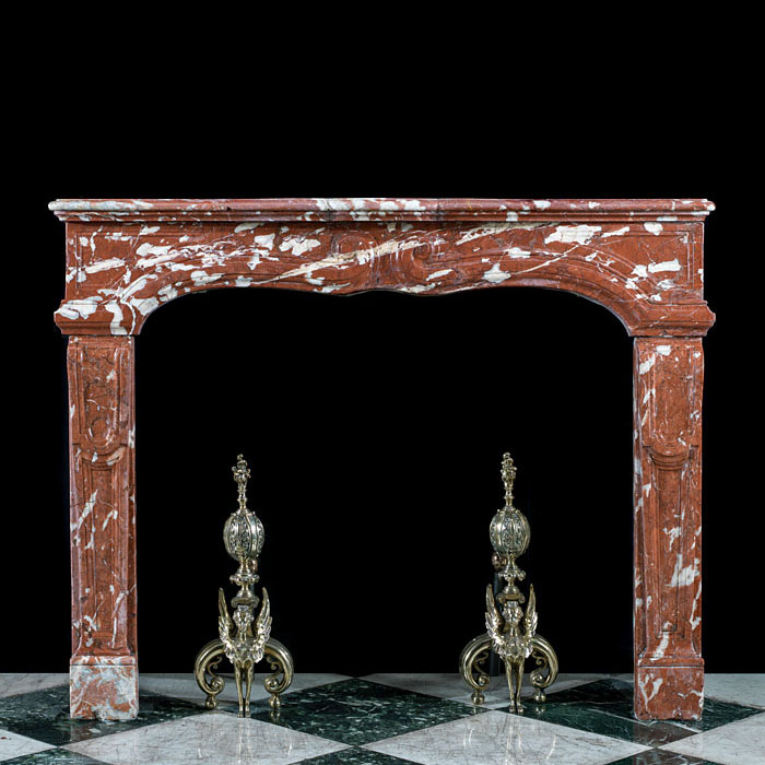 A Louis XIV Languedoc Marble Fire Surround