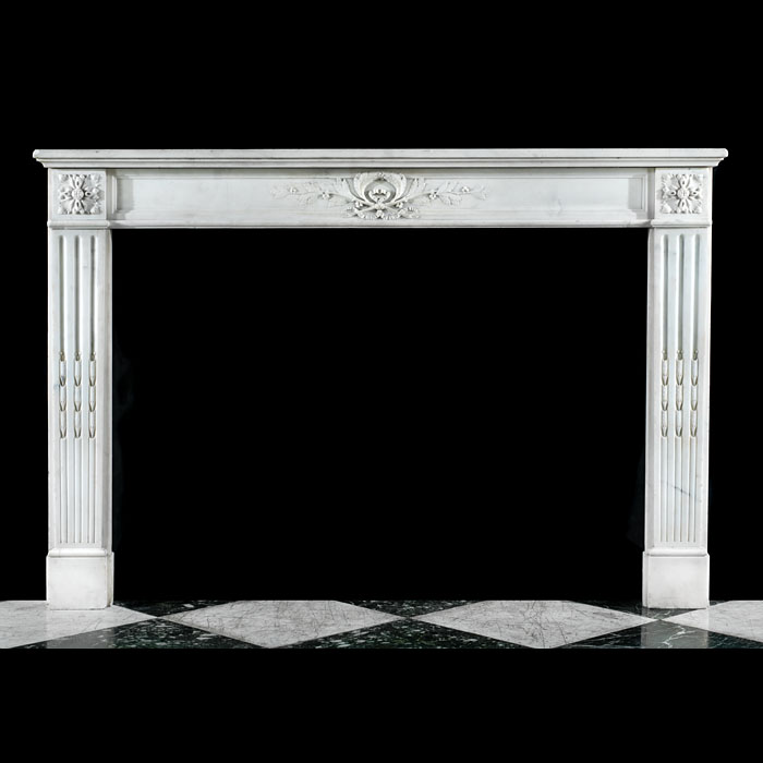 A Statuary Marble Louis XVI fire surround