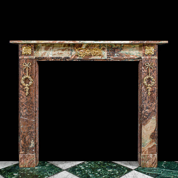 Small Louis XVI Campan Marble Fireplace