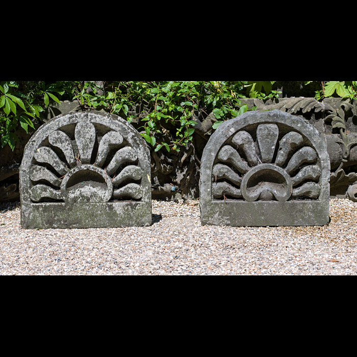 A Pair of Regency Stone Garden Ornaments