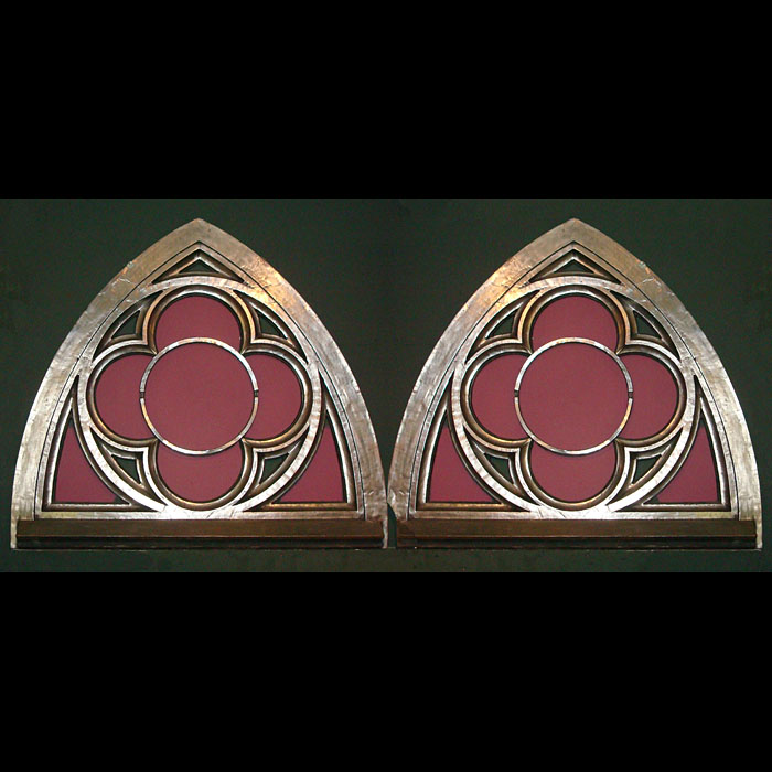 Pair of Iron Gothic Revival Window Frames